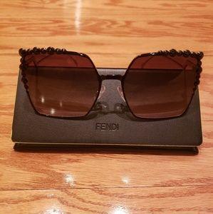 Fendi Women's Embellished Oversized Sunglasses